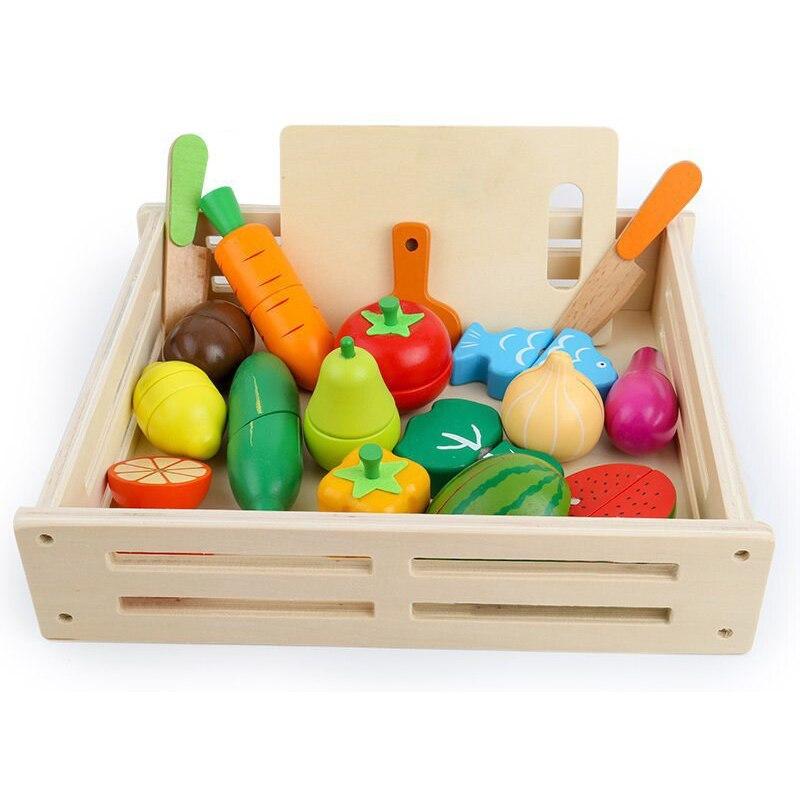 ألعاب مطبخ خشبية للأطفال ، لعبة محاكاة ، تقطيع فواكه وخضروات ، طعام مصغر ، مجموعة مطبخ للفتيات ، ألعاب تعليمية لمرحلة ما قبل المدرسة