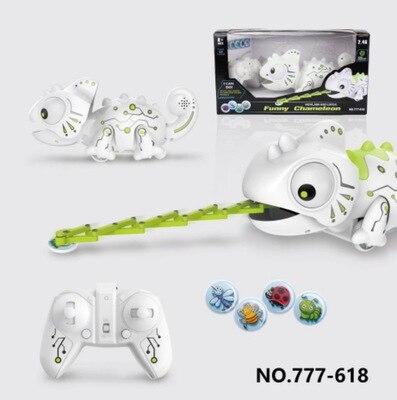 Control remoto juguete del camaleón voz eléctrica de los niños decoloración dinosaurio Robot doble interacción juego de juguete