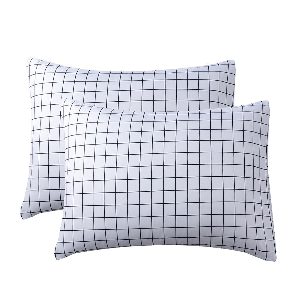 Funda de almohada de celosía blanca de estilo euroamericano, funda de almohada de dibujos animados para dormir, fundas de almohada para niños, cama para adultos, funda de almohada de 51x66cm