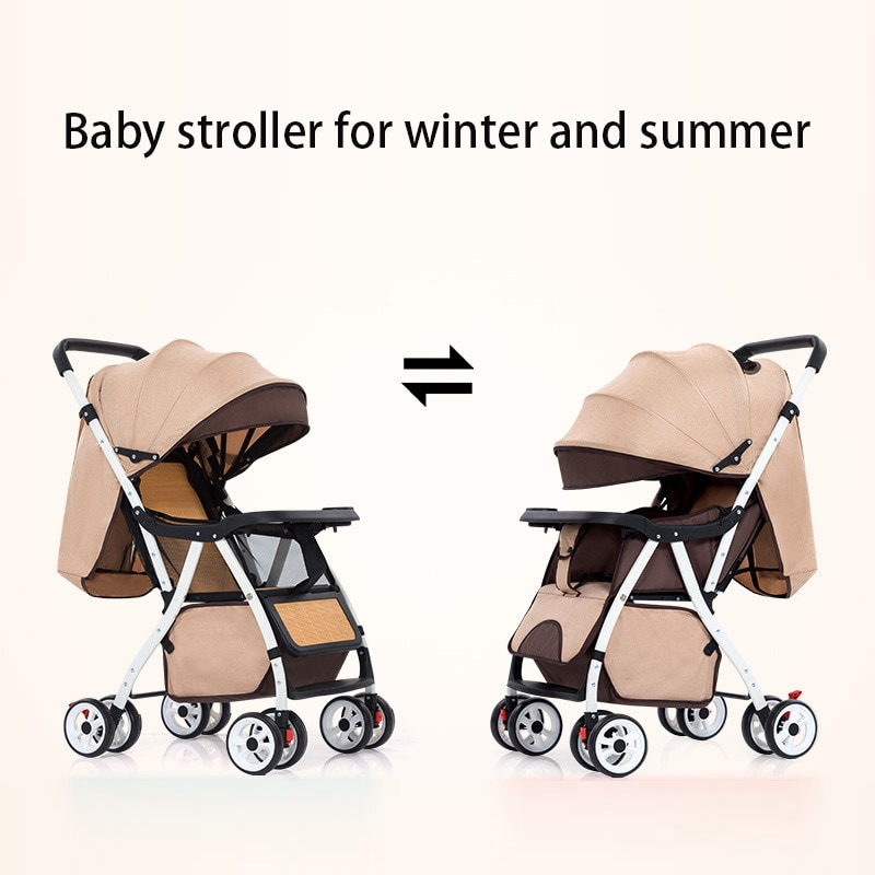 Baby Stroller Is Light To Sit Reclining and Folding Baby Stroller Winter and Summer Dual-purpose Childrens Umbrella Cart Trolley enlarge