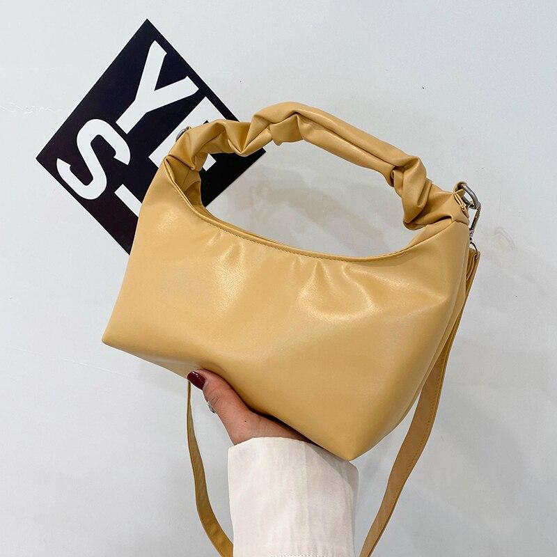 Bolsas de Ombro Simples e Selvagens Estudante na Moda Senhoras Novas Tendências Moda Compradores Pequenos Bolsas 2021 Novos Nuvem Macia Meninas