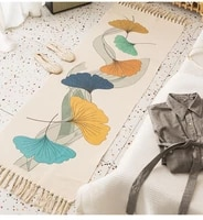 luxury boho style decoration tassel macrame cotton fiber rectangle mat living room sofa bedroom floor door bath mat rug carpet