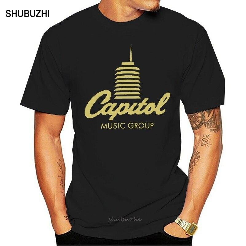 Divertida camiseta para hombre, nueva camiseta de manga corta para mujer, camiseta con Logo de la Torre del Capitolio registros, Camiseta de algodón para hombre, camiseta de marca de verano, talla europea