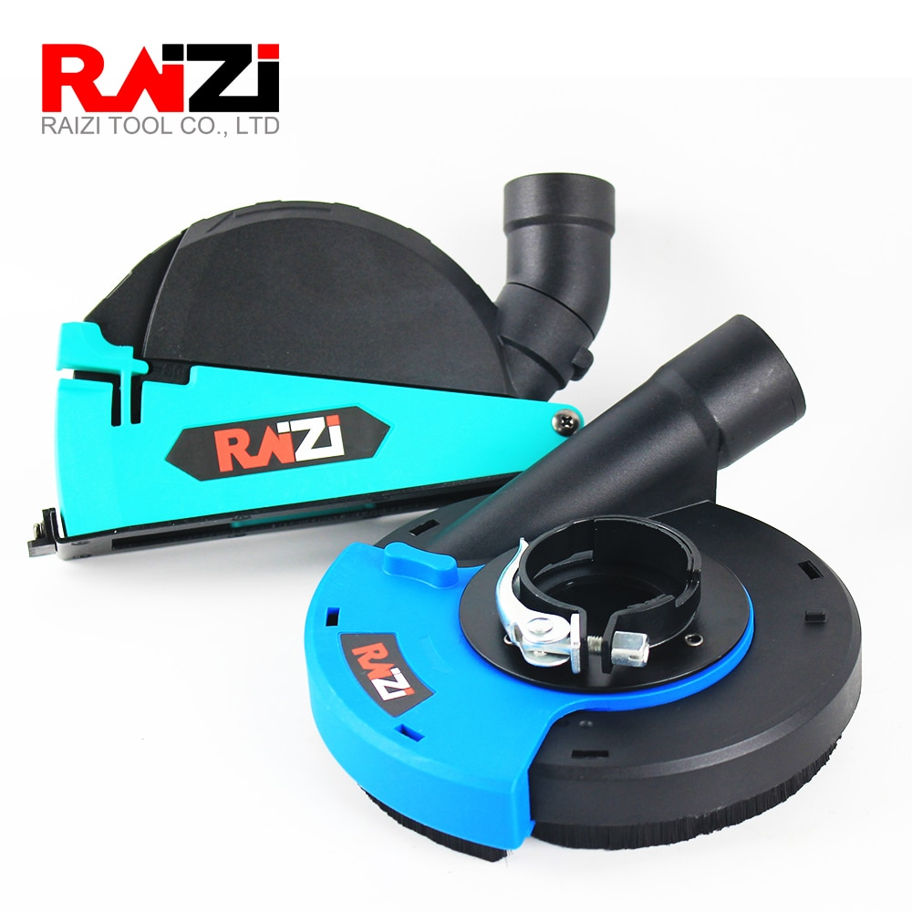 Raizi Universal Angle Grinder Dry Cutting Grinding Dust Shroud Kit 2 Pcs 5 inch/125 mm Cover Shroud Tools for Stone Concrete enlarge
