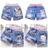 summer kids short denim shorts for girls fashion girl short princess jeans children pants girls shorts flower girls clothing