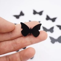 100pieces 3x2cm small butterfly sticker wedding decor acrylic mirror sticker kids room diy accessory party guest gifts