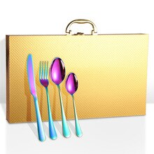 4 Uds caja de regalo para juego de cubiertos 24 Uds juego de cubiertos mango mate caja para vajilla juego cuchillo tenedor cuchara solo caja No juego de cubiertos