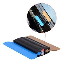 FOSHIO магнит виниловый скребок с 6 шт. ткань из углеродного волокна пленка для оклейки машины оконный скребок тонирующие наклейки для инструментов, авто оберточные аксессуары