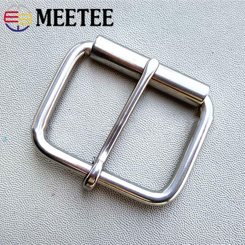 Meetee 1 ud./2 uds. Cinturones con hebilla de acero inoxidable de ID27-60mm, hebillas de Metal para cinturón con agujas individuales, accesorio de Hardware DIY