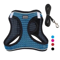 pet dog harness leash vest reflective breathable adjustable comfortable harness for dogs pet products dog vest for dogs products