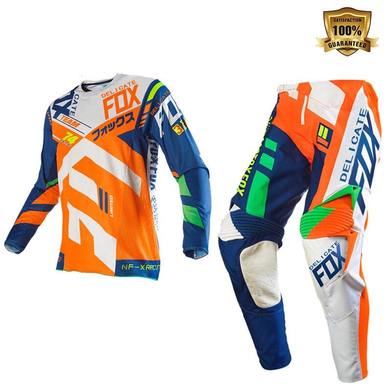 Delicado Fox motocicleta cuesta abajo bicicleta carretera 360 Divizion Gear Set Motocross traje de los hombres Kit