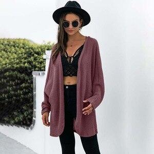 Solid Color Cardigan Sweater Coat Women Autumn Elegant Long Sleeve Open Stitch Tops Ladies Casual Street Wear Women's Clothing