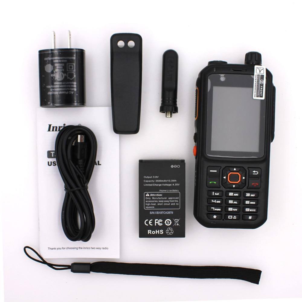 Inrico T320 Zello Android Network POC Radio 4G LTE Network Intercom Transceiver Dual SIM Card Walkie Talkie Phone enlarge