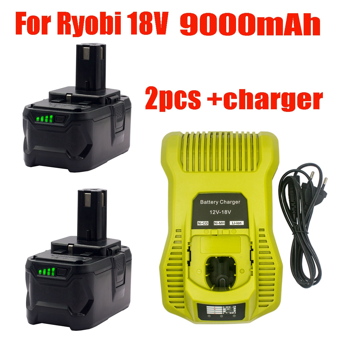 18V 9000mAh قابلة للشحن بطارية أيون الليثيوم استبدال Ryobi السلطة أداة BPL1820 P108 P109 P106 P105 P104 P103 RB18L50 البطارية