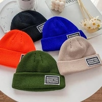 winter new candy colors landlord hat wool hat men winter warm knitted hat ski hat personality beanie hat womens hat melon cap