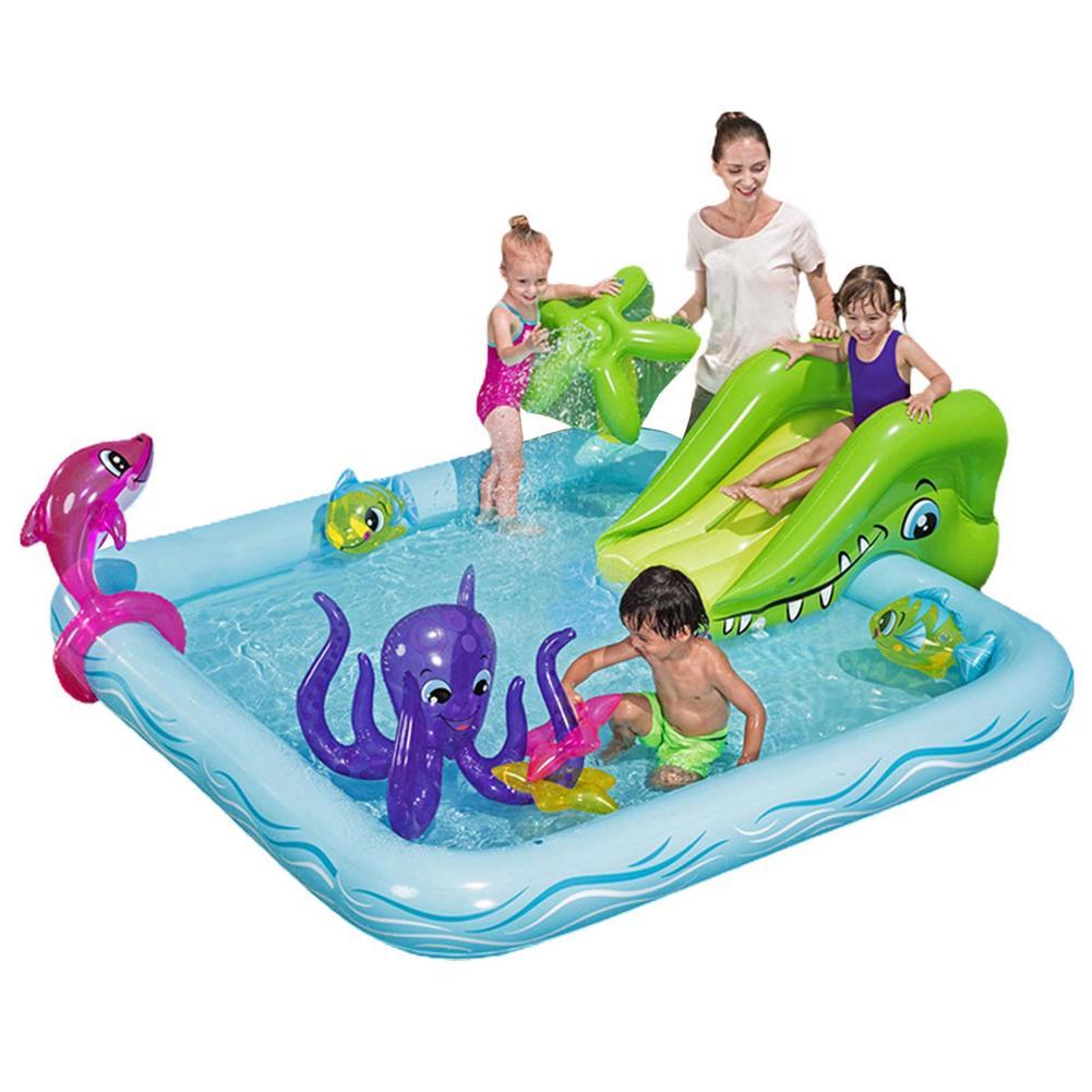 Детский надувной игровой центр, водная горка для детей, водные горки для лужайки, водные горки, надувной бассейн