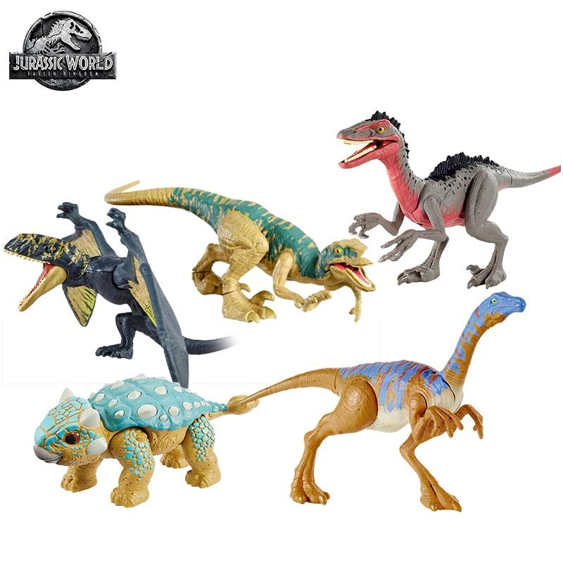 ديناصورات جوراسيك وورلد أصلي لعب فيلوسيرابتور أنكيلوسورس نموذج ديناصور للأولاد ألعاب للأطفال بأشكال أكشن ووندوسن