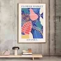 flower market poster istanbul flower market print canvas poster flower wall flower shop sign florist gift home wall art