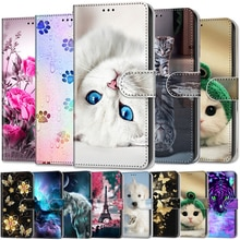 Wallet Case For Xiaomi Redmi 9 Case Flip Phone Cover Luxury Cat Painted for Redmi 9 Leather Stand Pr