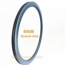 650B 30mm jantes plus larges 45mm hauteur vélo de route personnalisé v-frein ou disque carbone jante 20H 24H 28H 32H 36H cyclocross gravier roue de vélo