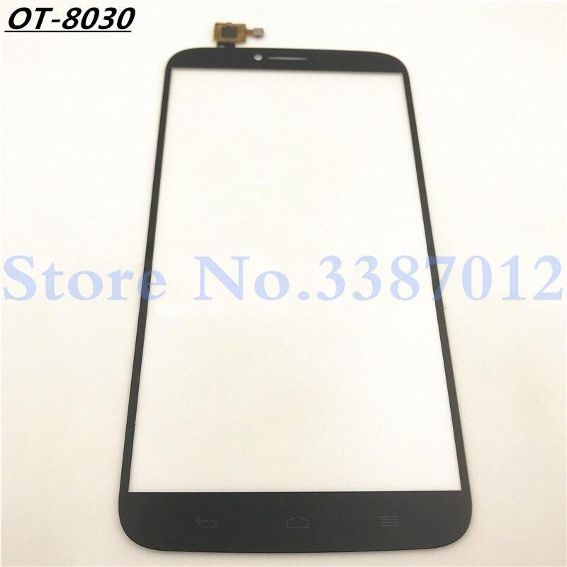 Alta calidad para Alcatel One Touch Hero 2 OT8030 8030 8030B 8030Y Sensor de digitalizador de pantalla táctil Panel de lente de cristal exterior