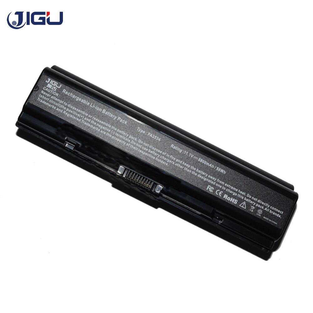 JIGU 10.8v بطارية كمبيوتر محمول لتوشيبا M216 M205 L581 L585 L586 Equium A210-17I L300-146 L300-17Q A200-196 8800MAH