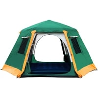 5 8 person use double layer waterproof outdoor camping tent with snow skirt automatic outdoor windproof camping tent ultralarge