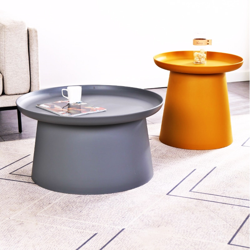 Best Nordic Style Simple Round Coffee Table Modern Small Apartment Bay Window Balcony Table Combination Living Room Side Table
