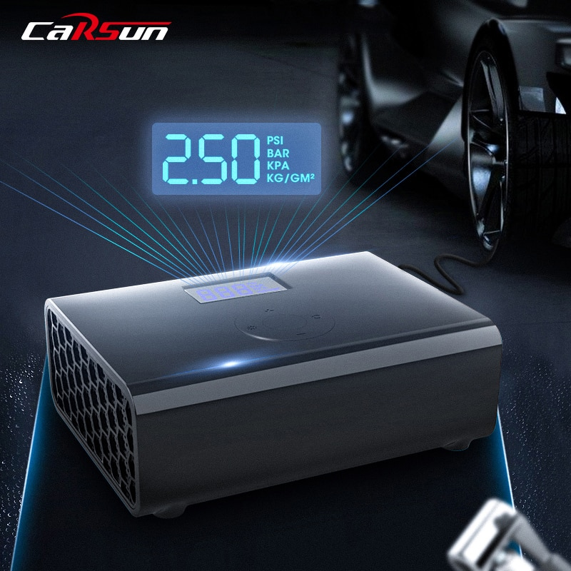 Фото - Carsun Portable Air Compressor Inflatable Pump 12V Car Air Pump with LED light Digital Car Tire Inflator For Motorcycle Bicycle portable car tyre inflator dc 12v digital tire inflator 150 psi auto air pump for car motorcycle led light tire air compressor