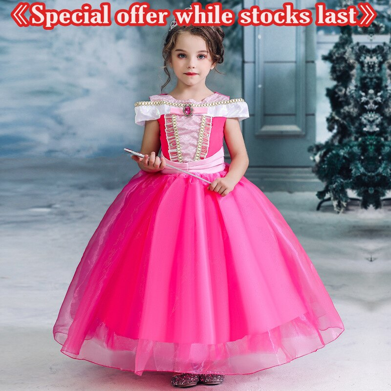 {Ready Stock} Girls Princess Dress Halloween Cosplay Costume Kids Birthday Party Clothing for Childr