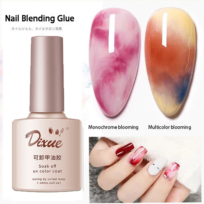 Watercolor Ink Nail Polish Color Blossoming Effect Quick Blooming Glue Gradient Art Design Gel