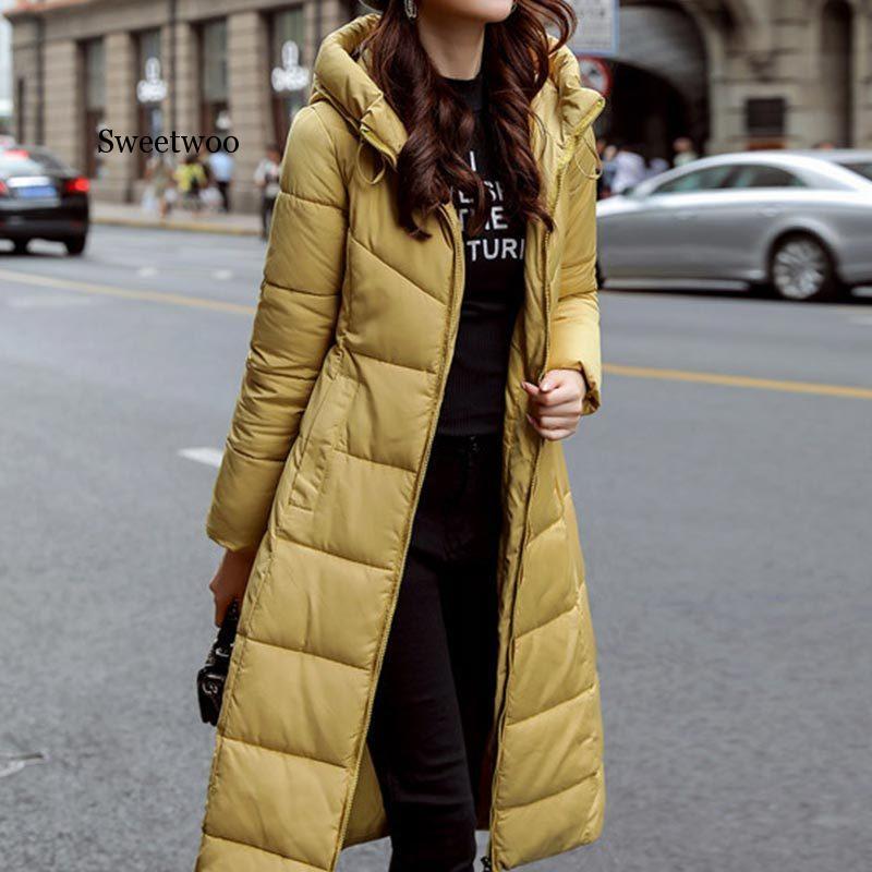 Зимняя женская длинная Модная хлопковая верхняя одежда больших размеров, толстовка, парки, теплые куртки, Женское зимнее пальто, женская од...