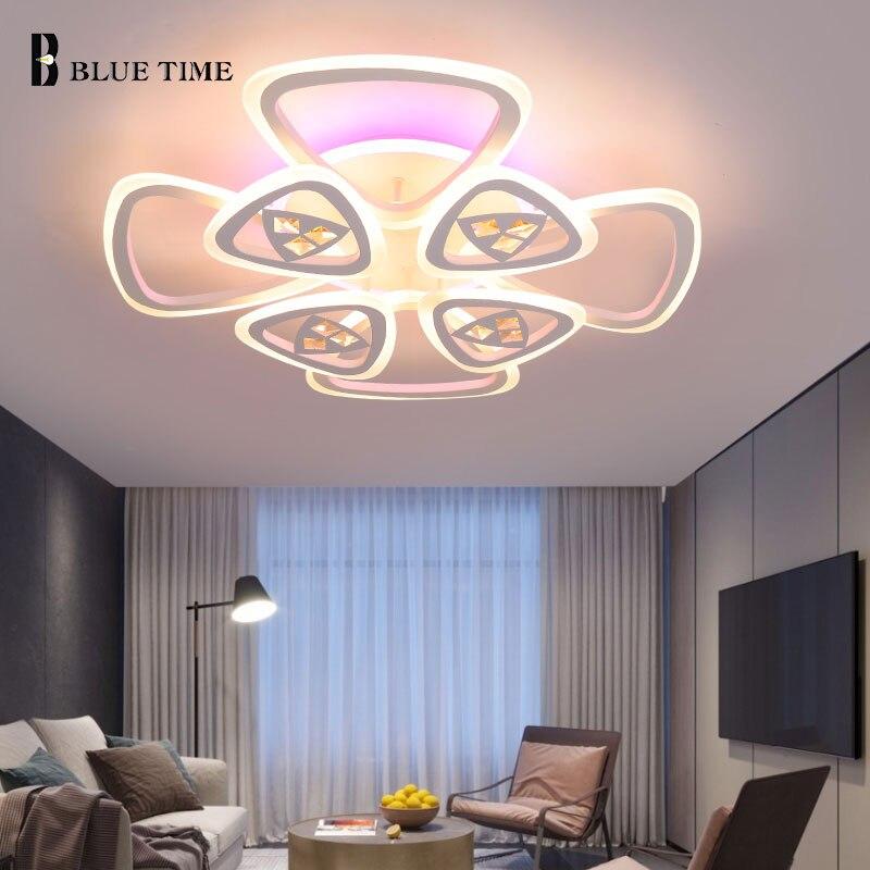 Разноцветная светодиодный ная Люстра для гостиной, спальни, столовой, кухни, комнатные декоративные лампы, потолочные светильники