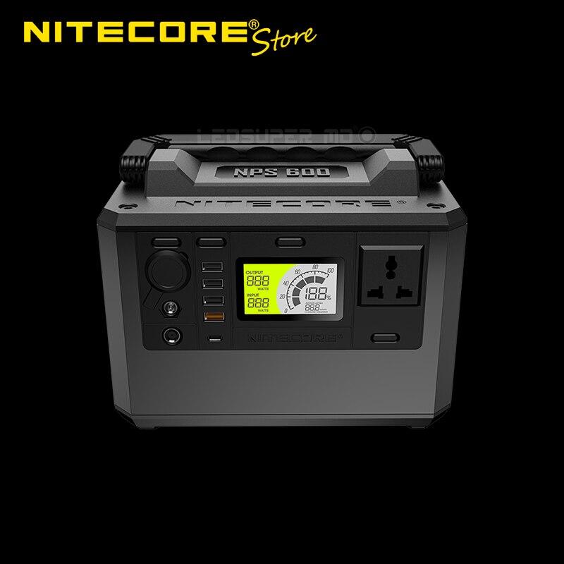 NITECORE-محطة طاقة للطوارئ المحمولة ، NPS600 ، 594Wh ، 220V / 300W ، خارجي