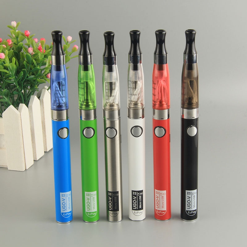 Ugo-V2 II 650mAh Mirco USB Passthrough 510 Thread Battery Electronic Cigarette eGo Ce4 Vaporizer Atomizer Starter Vape Pen Kit 1
