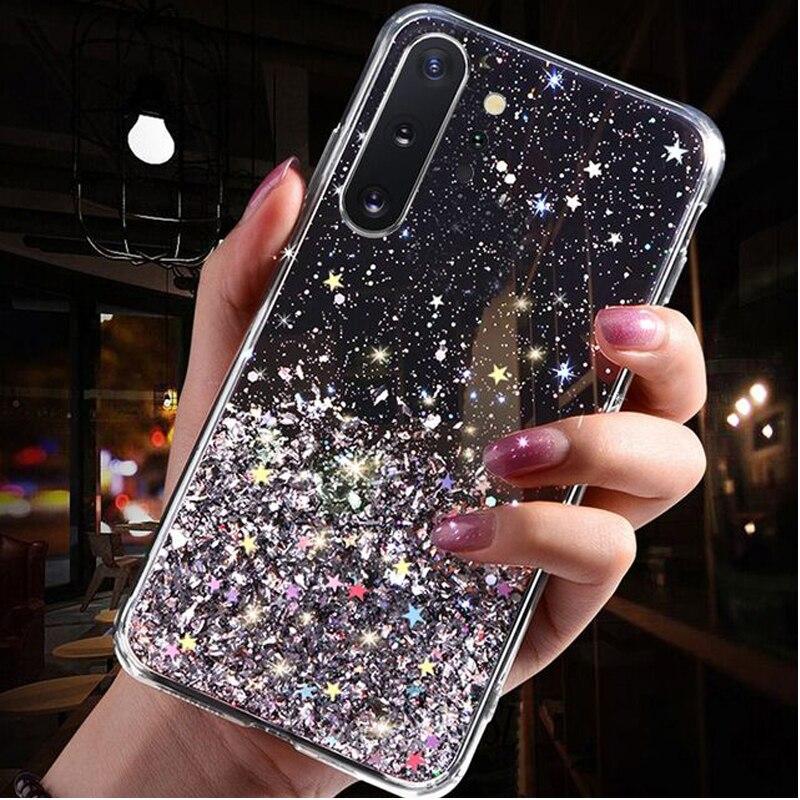SUYACS глянцевый градиентный чехол для телефона Huawei P30 P20 Pro Honor Mate 20Pro Nova 4 StarPowder, мягкая эпоксидная Силиконовая задняя крышка для телефона