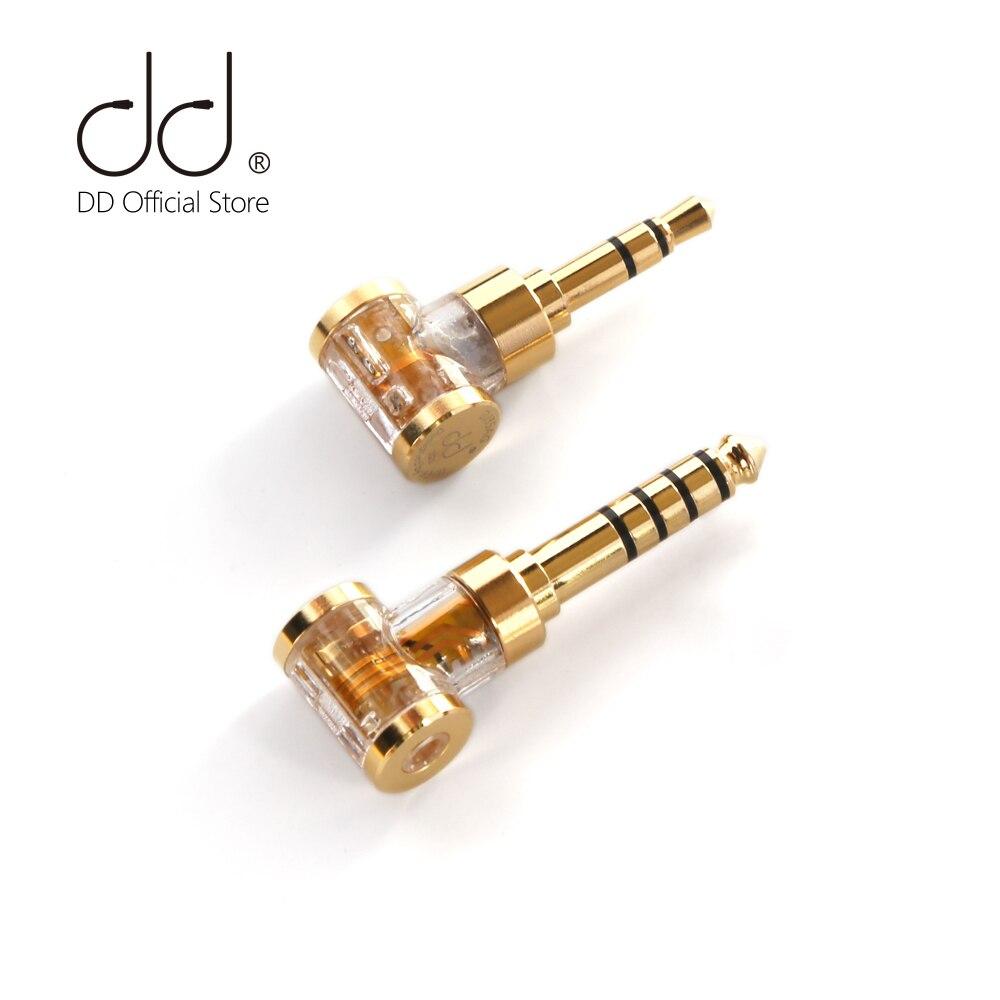 DD ddHiFi DJ35AG/ DJ44AG 2,5mm equilibrado hembra a 3,5mm/4,4mm macho adaptador de conector de auriculares de Audio convertidor de auriculares/DAP