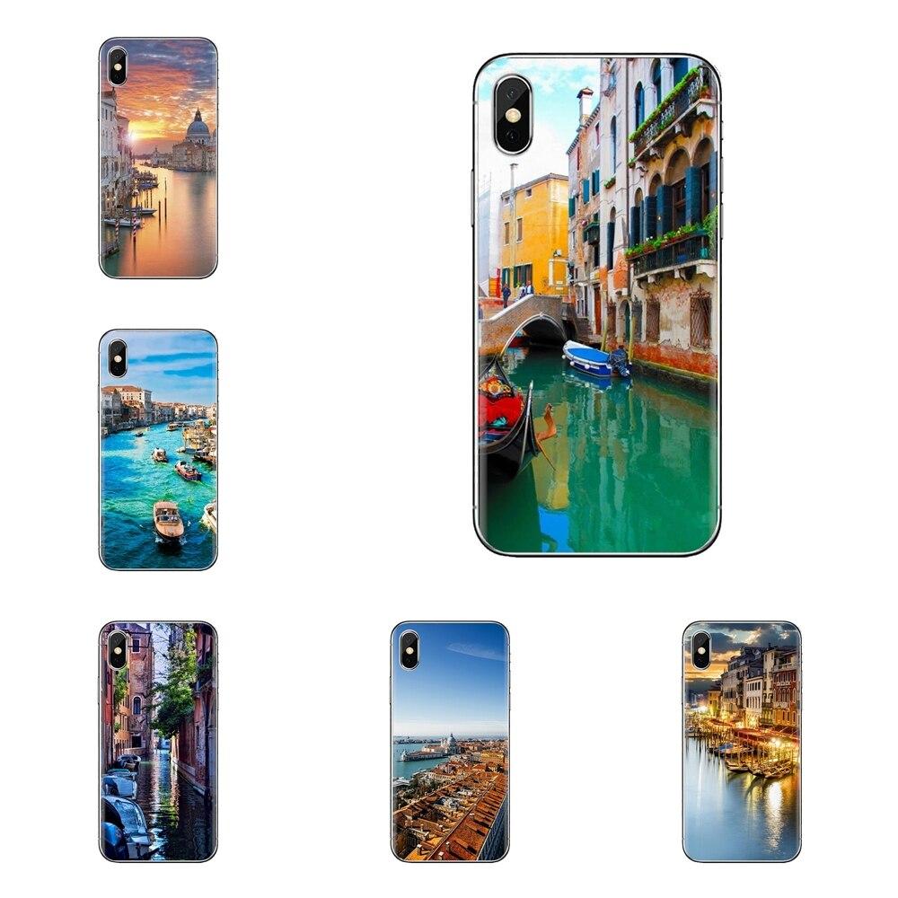 Para Samsung Galaxy S3, S4 y S5 Mini S6 S7 borde S8 S9 S10 Plus nota 3 4 5 8 9 bella Venecia Italia suave transparente cubre los casos