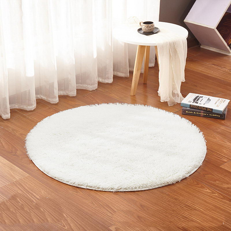 Tapetes redondos da sala de visitas do tapete do tapete da cor branca tapetes macios e macios mornos, tamanho feito sob encomenda, diâmetro 60,80,100,160cm
