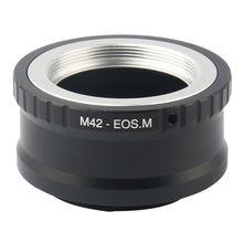 Objectif M42 réglable pour Canon EOS M M2 M3 EF-M adaptateur dappareil photo sans miroir