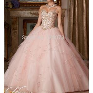 Princess Popular Puffy Ball Gown Coral Quinceanera Dresses 2020 Sweet 16 Dress Vestido De 15 Anos Custom