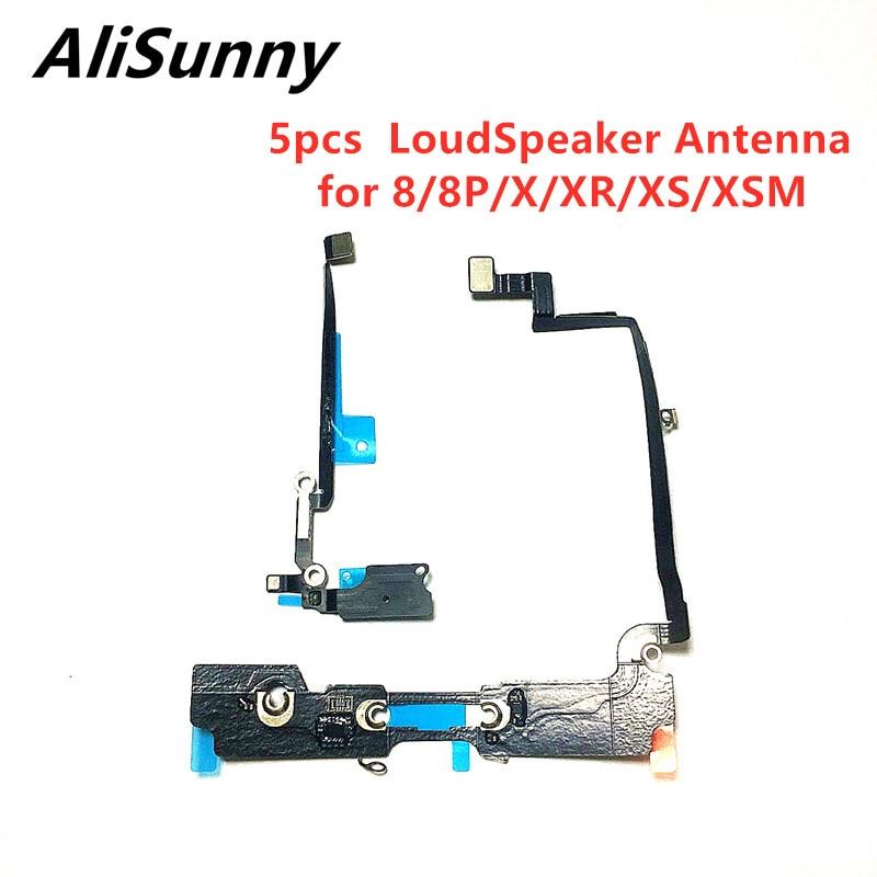 Cable flexible de antena de altavoz AliSunny 5 uds para el iPhone 8 Plus X XS Max XR Wi-Fi timbre conector de Cable plano partes