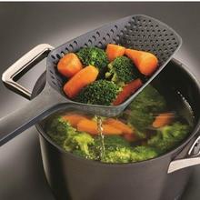 Grande passoire filtre à soupe   Pelles de cuisine, passoire à légumes, cuillère à poêle antiadhésive en Nylon 1 pièce offre spéciale