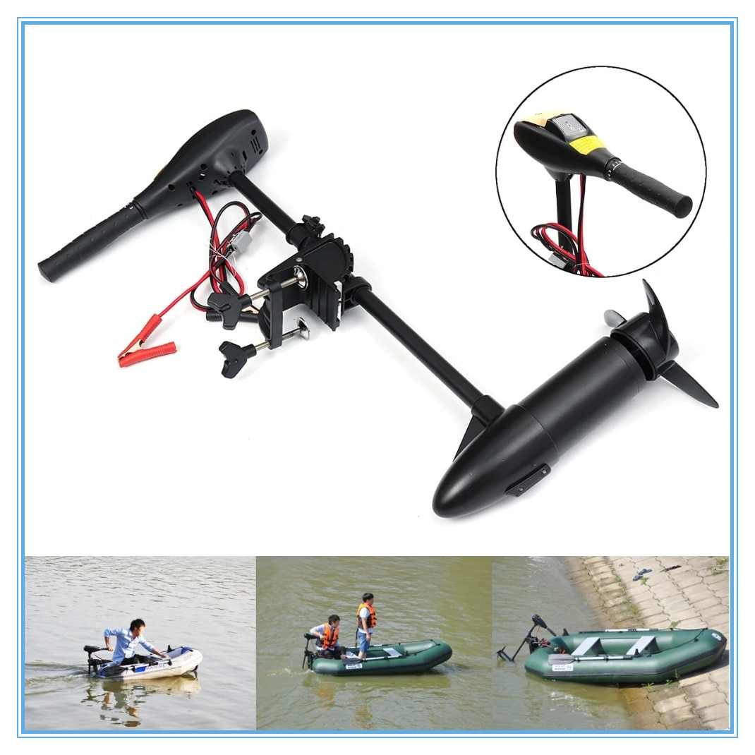 New 18LBS 144W 4km Hourly Boat Electric Motor Marine Electric Vessel Outer Engine Electric Motor Inflatable Boat Propeller 12V