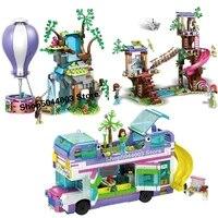 2020 new friendship bus tiger hot air balloon rescue 41395 41423 41424 friends building blocks bricks christmas toy children