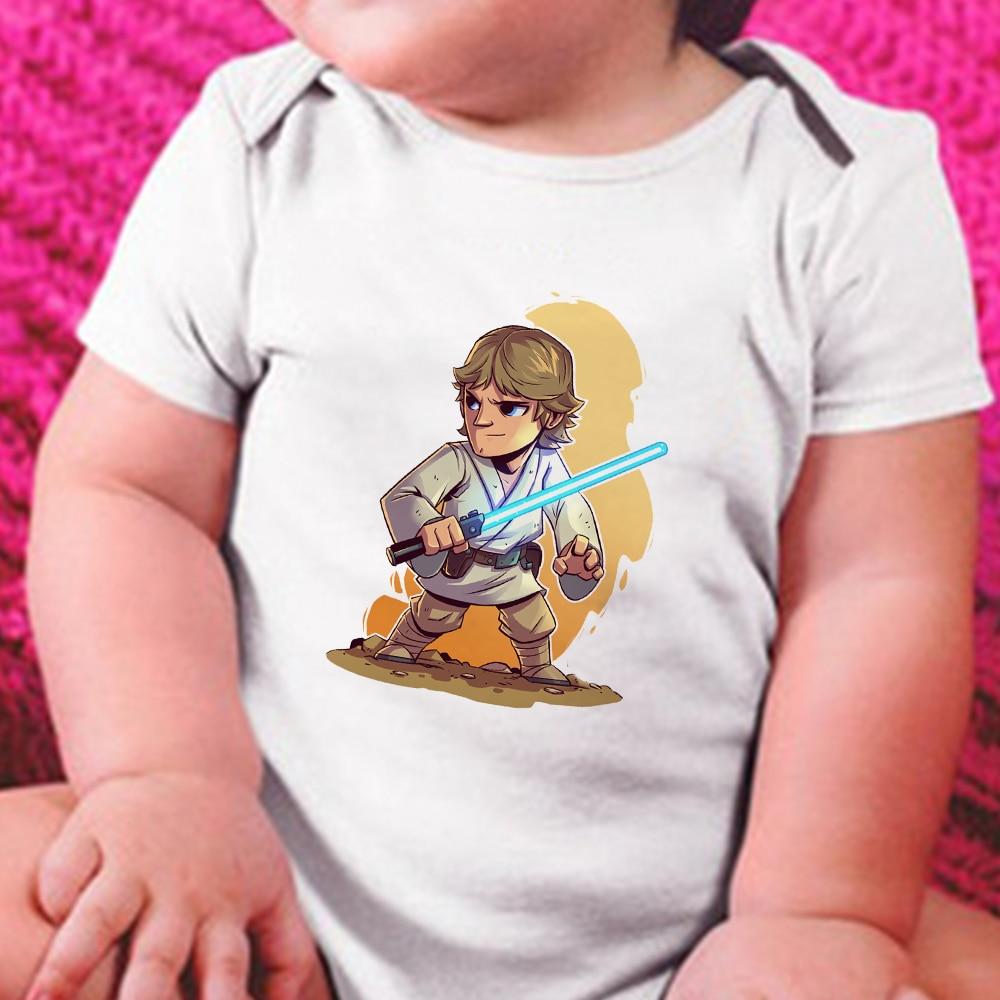 Mono estampado de Star Wars, Luke Skywalker, ropa infantil de manga corta,...
