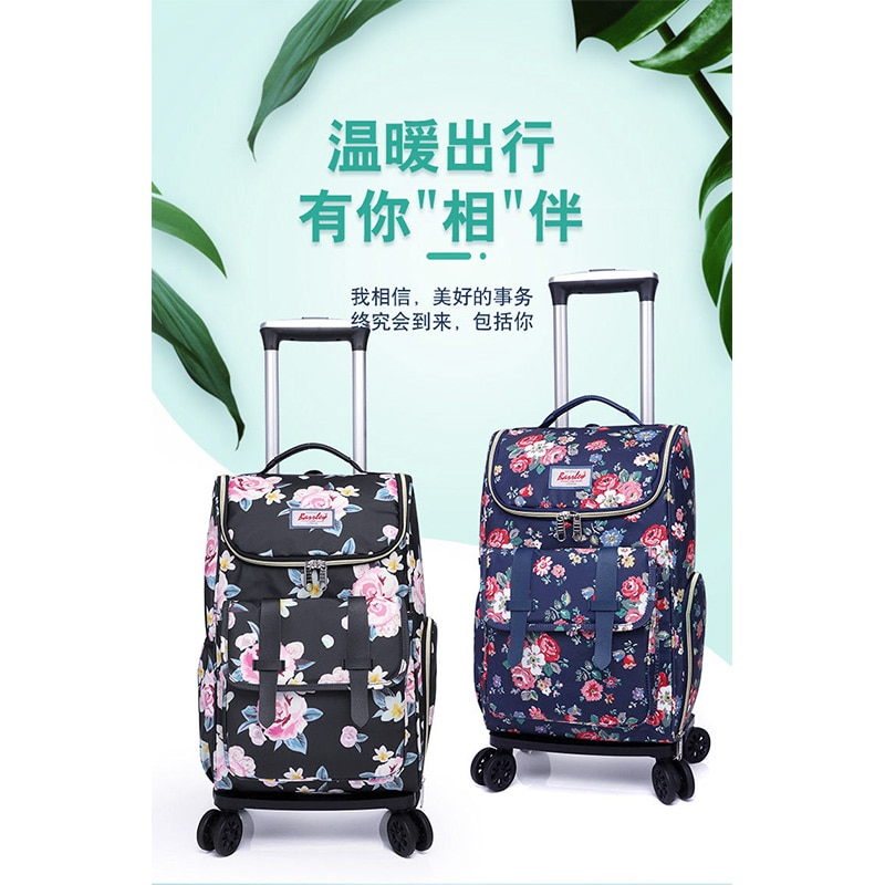 Polyester Luggage Sets for Women 2021 High Quality Bags Girls Female Shoppers Casual 18 Inch Foldableal Travel Bag Trolley Cases