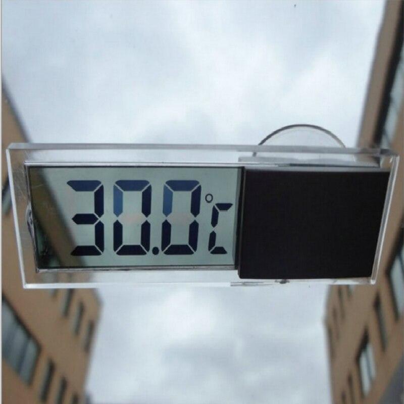 Vista del coche espejo Home ventosa para ventana Digital Mini LCD de temperatura pantalla LCD transparente rango de medición de temperatura-10-40