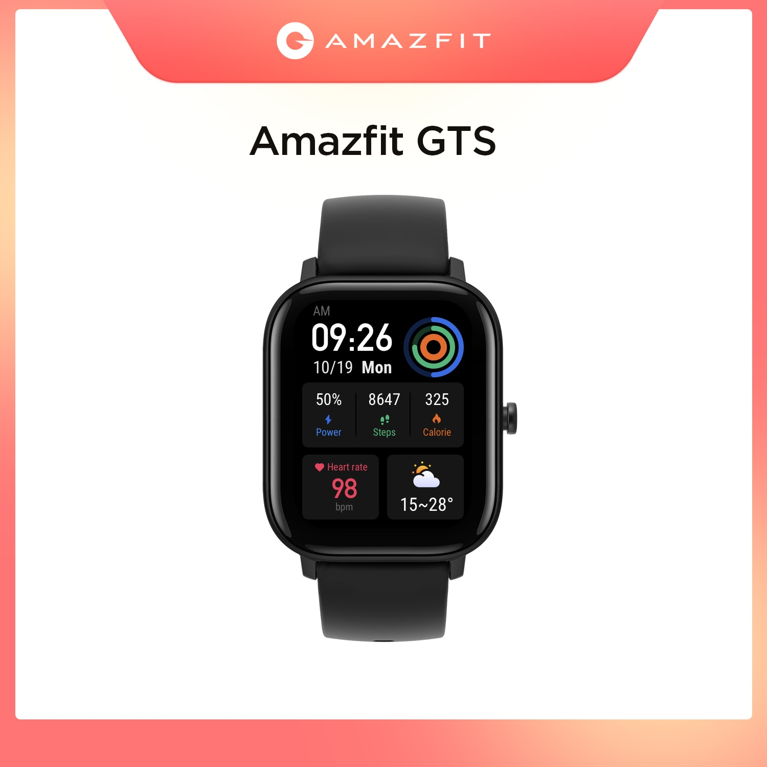 In stock Global Version Amazfit GTS Smart Watch 5ATM Waterproof Swimming Smartwatch 14 Days Battery Music Control for Android global version huami amazfit gtr 42mm smart watch 5atm smartwatch 12days battery gps music control for xiaomi android ios