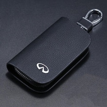 1PCS For Infiniti FX35 Q50 Q30 ESQ QX50 QX60 QX70 EX JX35 G35 G37  Genuine Leather Car Key Bag Case